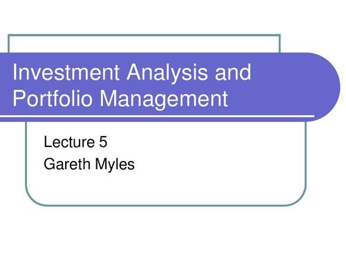 Investment and Portfolio Management代写