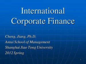 study of corporate finance代写