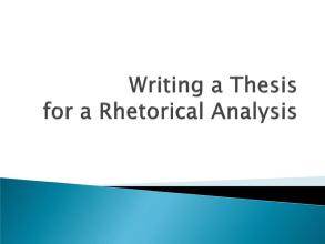 Rhetorical analysis代写