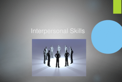 Interpersonal Skills代写