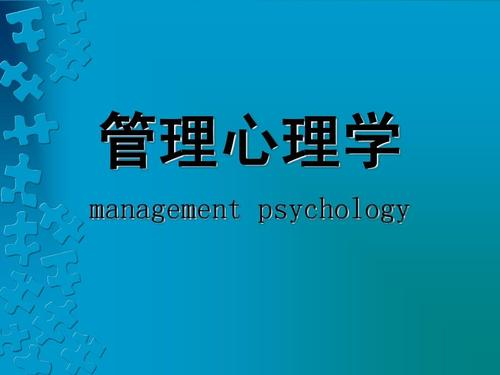 Management Psychology代写